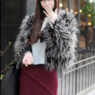 Fashion Womens Winter Warm Thick Coat Jacket Velvet Faux Fur Outwear Cardigan