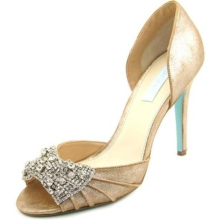 Betsey Johnson Gown   Peep-Toe Leather  Heels
