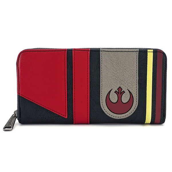Loungefly Star Wars The Last Jedi Poe Dameron Cosplay Zip Around Wallet - S