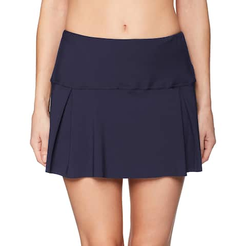 Nautica Navy Blue Women's Size Small S Pleated Swim Skirt Swimwear