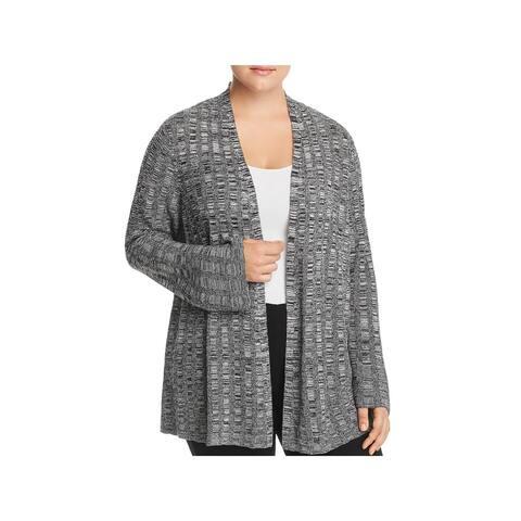 Eileen Fisher Womens Plus Cardigan Sweater Silk Bell Sleeve - 1X