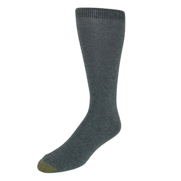 Gold Toe Men's Microfiber Flat Knit Dress Socks (3 Pair Pack)