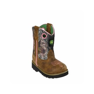 John Deere Western Boots Girls Cowboy Mossy Oak Infant Pink JD1246