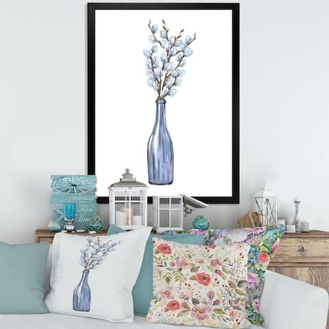 Designart 'Bunch of Willow Twigs II' Farmhouse Framed Art Print