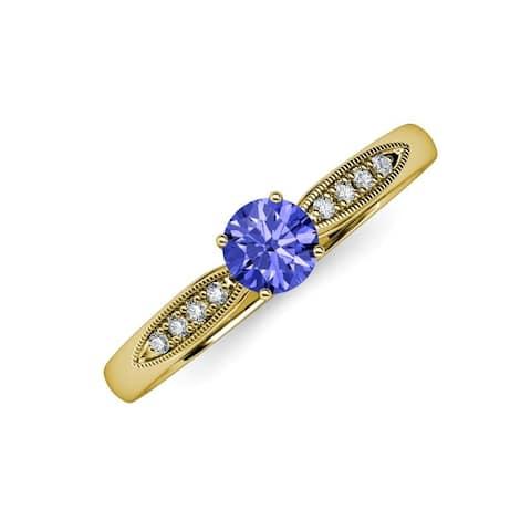 TriJewels Tanzanite Diamond 1 ctw Womens Engagement Ring 14K Gold