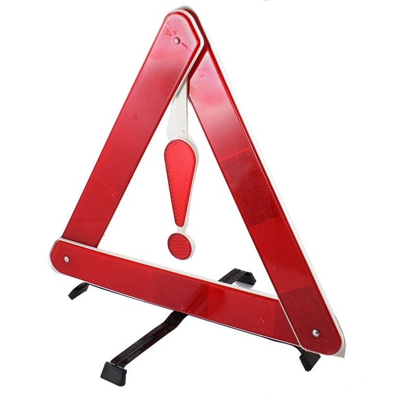 Unique Bargains Safety Sign Plastic Reflective Triangle Car Sticker Placard Red