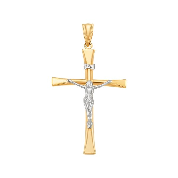 Finecraft Mens Gothic Cross Pendant with Onyx in Stainless Steel 24