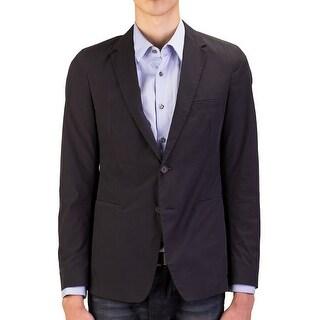 Prada Men's Lightweight Cotton Two-Button Sportscoat Faded Black - 40