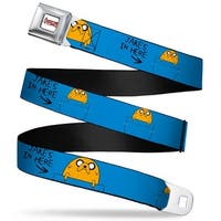 Adventure Time Logo White Full Color Jake Jake's In Here Webbing Seatbelt Seatbelt Belt