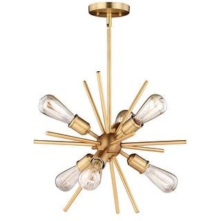 Link to Estelle 6 Light Brass Mid-Century Modern Sputnik Pendant - 19-in W x 19.5-in H x 19-in D Similar Items in Pendant Lights