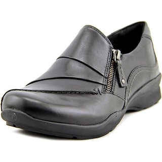 Earth Anise Women  Round Toe Leather Black Loafer