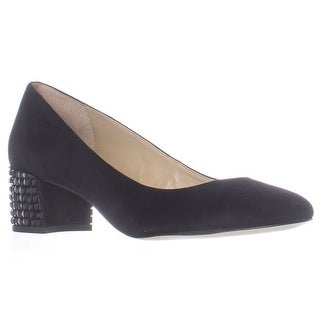 MICHAEL Michael Kors Arabella Heel Studded Kitten Pumps - Black