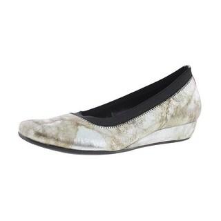 VANELi Womens Grassy Leather Metallic Ballet Flats - 7 narrow (aa,n)
