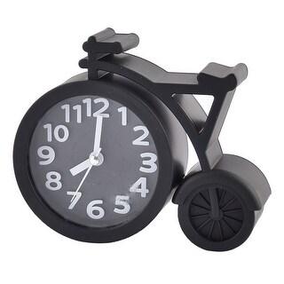 Household Office Desktop Plastic Bike Shaped Battery Powered Alarm Clock Black