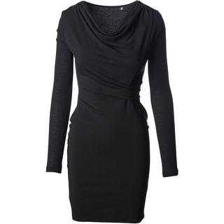 Elie Tahari Womens Vala Modal Blend Gathered Casual Dress