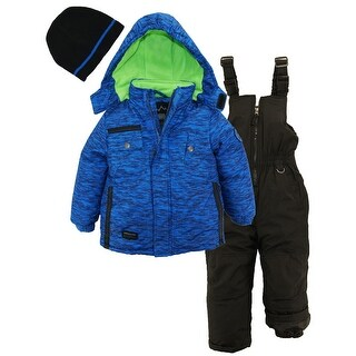 Ixtreme Boys Colorblock Heavy Snowsuit Winter Ski Jacket Bib Bonus Hat