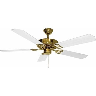 "Volume Lighting V5954 5 Blade 52"" Indoor Ceiling Fan with White Blades"