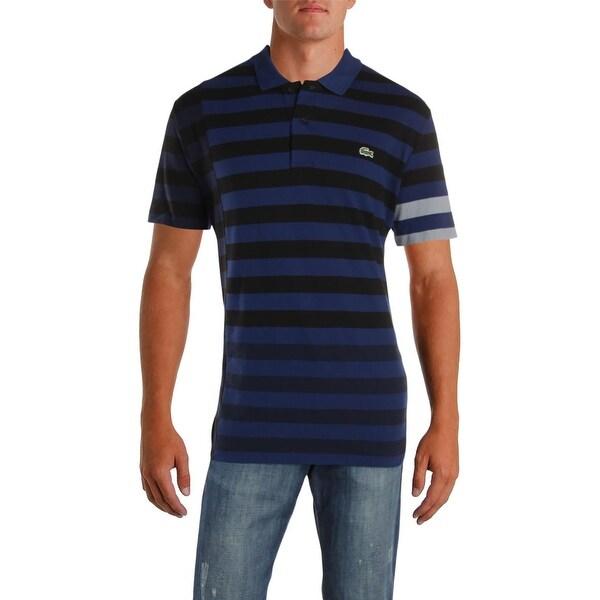 44e6bd583280fd Shop Lacoste Mens Polo Shirt Cotton Striped - XXL - Free Shipping ...