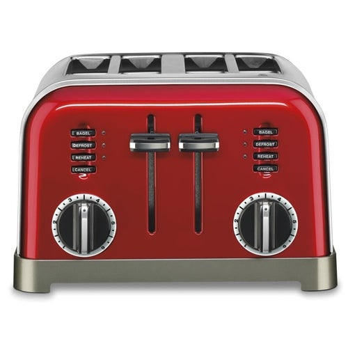 4 slice toaster metallic red metal classic metal classic 4 slice toaster metallic red free. Black Bedroom Furniture Sets. Home Design Ideas