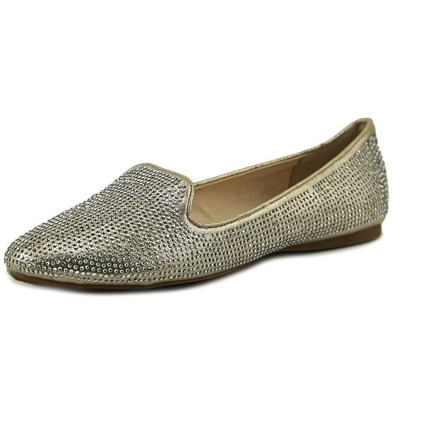 INC International Concepts Galle 12 Women Round Toe Canvas Gold Ballet Flats