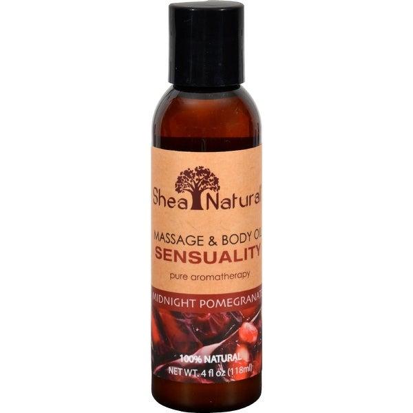 Shea Natural Massage and Body Oil - Sensual Midnight Pomegranate - 4 oz