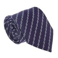 Ermenegildo Zegna Purple-Blue Chain Link Tie - 60-3