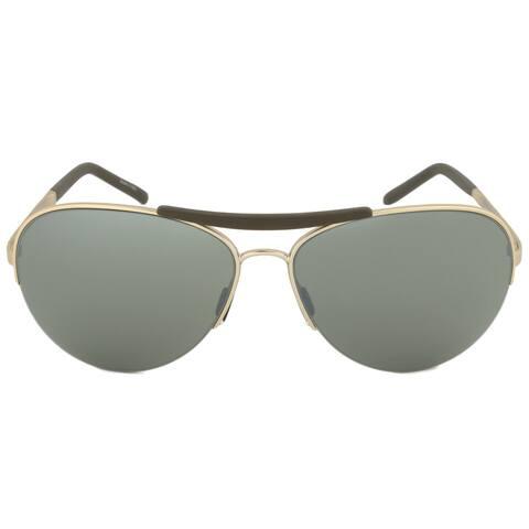 Porsche Design Design P8540 C Aviator Sunglasses Light Gold Frame Olive Silver Mirror Lens - 60mm x 14mm x 130mm