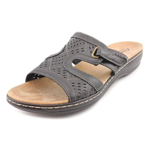 1738254eca90 Shop Clarks Narrative Leisa Sugar Women Open Toe Leather Black Slides Sandal  - Free Shipping On Orders Over  45 - Overstock - 15976984