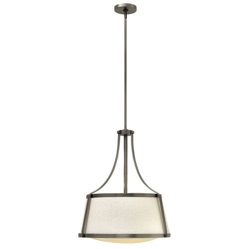 """3 Light 20"""" Width Full Sized Pendant from the Charlotte Collection"""