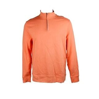 Club Room Light Orange Quarter-Zip Sweatshirt L