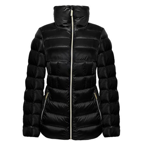 Michael Kors Black Down Short Packable Coat