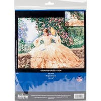 """Ringlets & Roses Counted Cross Stitch Kit-16""""X12"""" 14 Count"""