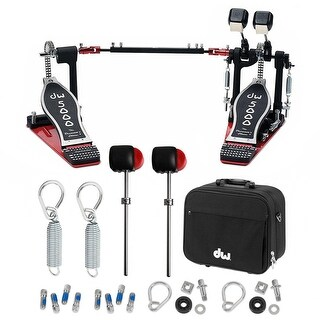 Drum Workshop 5002 Accelerator Double Bass Pedal with Deluxe Bundle