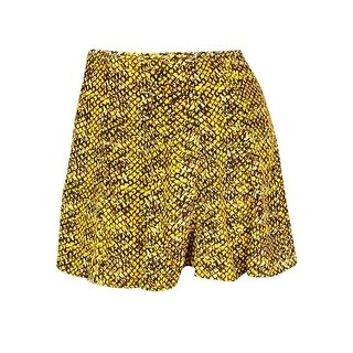 Michael Kors Women's Animal Print Flared Skirt - taxi yellow