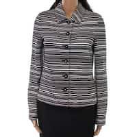 Karl Lagerfeld Women's Medium Stripe Knit Jacket