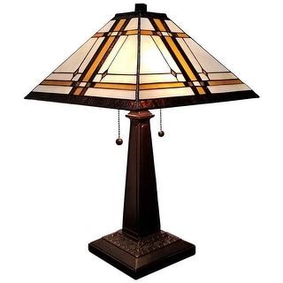 Tiffany Style Mission Table Lamp AM1053TL14 Amora Lighting