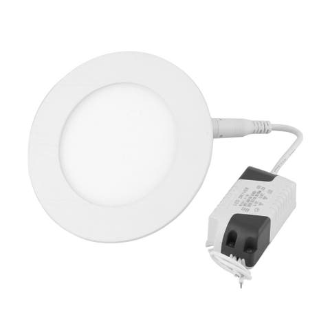 White 6W Round Home Dimmable LED Recessed Ceiling Panel Light Lamp AC85-265V
