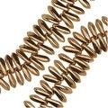 Czech Pressed Glass 3 x 10mm Dagger Beads - Bronze (50) - Thumbnail 0