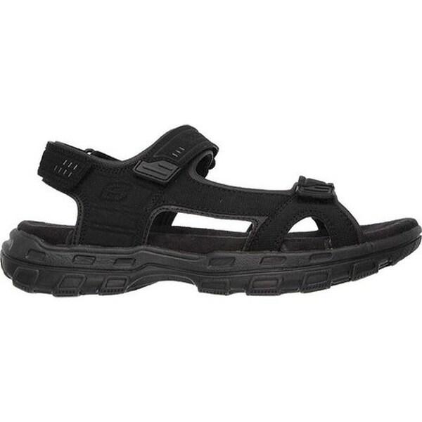 Shop Skechers Men's Relaxed Fit Conner Louden Sandal Black