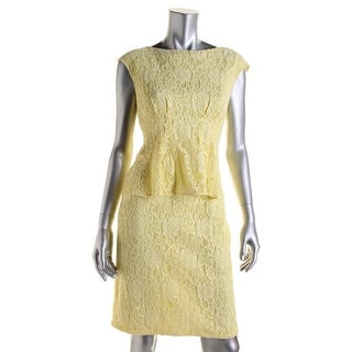 American Living Womens Lace Peplum Cocktail Dress