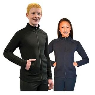 Chloe Noel Black Polar Fleece Skating Jacket Little Girls Boys 4-12