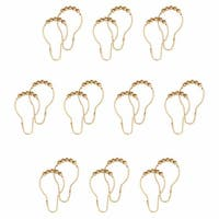 120 All Brass Shower Curtain Hooks Ring Roller Ball