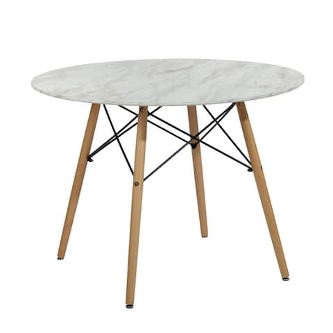 Furniture R Mid-Century Modern Round Dining Table