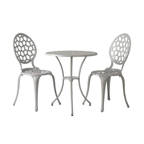 Vashon Aluminum Bistro Set In White