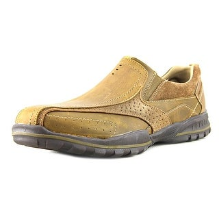 Skechers Vorlez Conven Men Round Toe Leather Brown Loafer