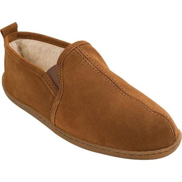 cf6786bb87cc1 ... Men s Shoes     Men s Slippers. Minnetonka Men  x27 s Pile Lined Romeo  Slipper Brown Suede