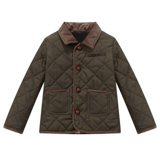 Richie House Boys' Crosshatched Jacket with Courdoroy Trim