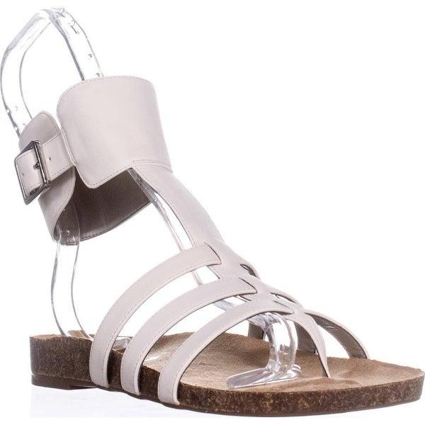 Circus by Sam Edelman Katie Ankle Strap Flat Sandals, Modern Ivory - 8 us / 38 eu