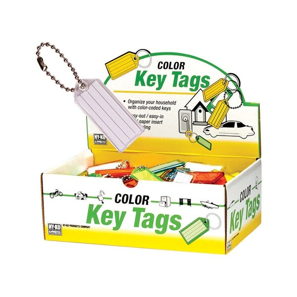 Hy Ko Kb140 100 Key I D Tag With Ball Chain Orted Color Pack Free Shipping On Orders Over 45 25406065