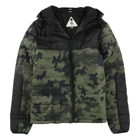 Element Mens Camo Puffer Jacket, Black, Small